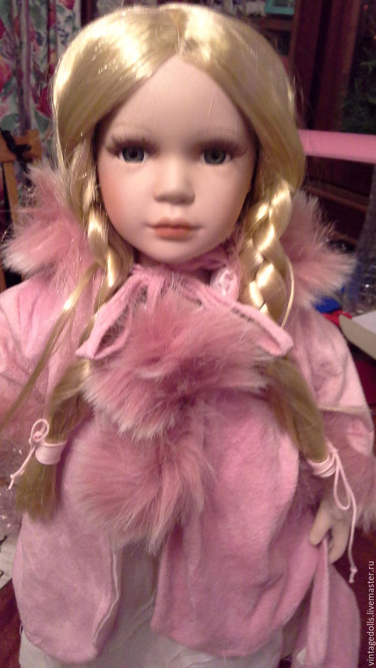 Коллекционные куклы ручной работы. Ярмарка Мастеров - ручная работа. Купить Дженни Альберон. Handmade. Бледно-розовый, велюр