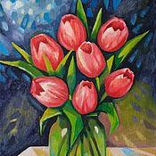 Картины и панно handmade. Livemaster - original item Spring flower Starfall.. Handmade.