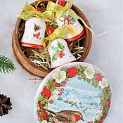 Подарки к праздникам handmade. Livemaster - original item Christmas set of bells in a box