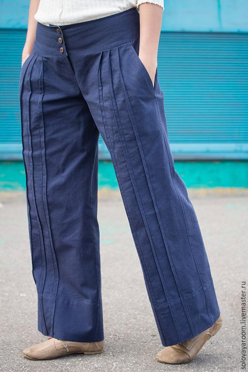 cce4c641e44 Льняные брюки с защипами – купить в интернет-магазине на Ярмарке ...