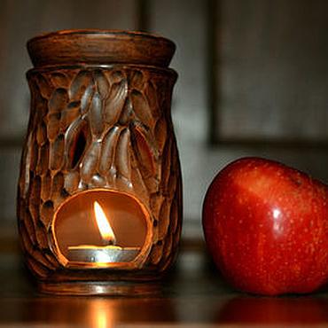 Для дома и интерьера ручной работы. Ярмарка Мастеров - ручная работа Аромалампа керамическая подсвечник Тёплый Огонь. Handmade.