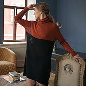 Одежда ручной работы. Ярмарка Мастеров - ручная работа Платье-водолазка из кашемира, платье оверсайз, свободное платье, вязан. Handmade.