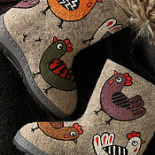 Работы для детей, handmade. Livemaster - original item Felt Boots