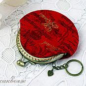 Сумки и аксессуары handmade. Livemaster - original item Purse with Clasp Red Music. Handmade.