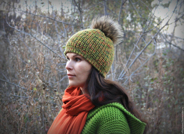 Вязание шапок нет из ниток меланж 39