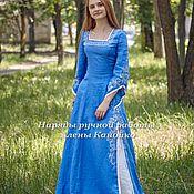 Одежда ручной работы. Ярмарка Мастеров - ручная работа Наряд в синих тонах для Helena. Handmade.