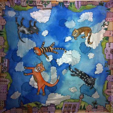 """Аксессуары ручной работы. Ярмарка Мастеров - ручная работа """"Коты"""". Handmade."""