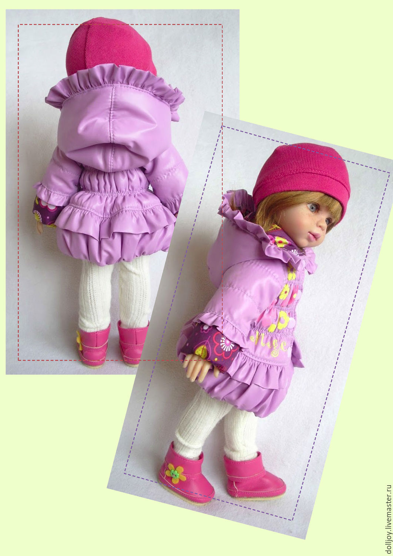 Как сшить пальто для куклы. Выкройка пальто для куклы / Мастер-класс 95