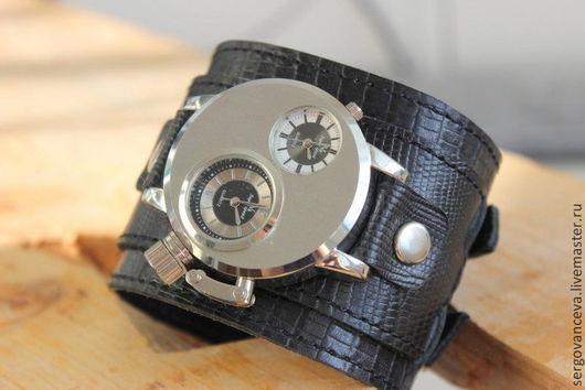 """Часы ручной работы. Ярмарка Мастеров - ручная работа. Купить Часы мужские """"Варан"""" 2. Handmade. Черный"""