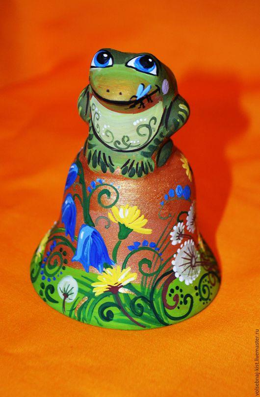 Колокольчик с лягушкой.Авторская роспись