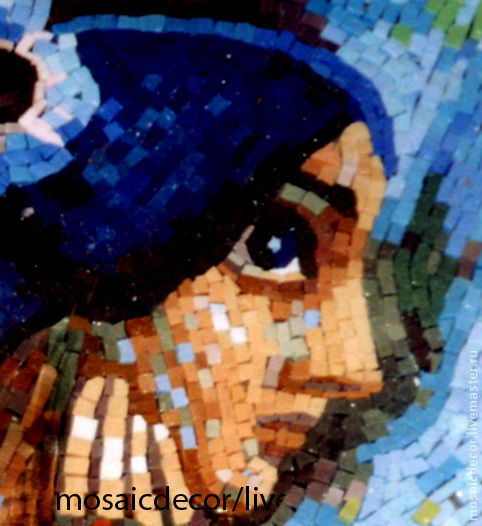 Символизм ручной работы. Ярмарка Мастеров - ручная работа. Купить Жемчужина, смальта. Handmade. Мозаика, картина из мозаики, девушка, образ