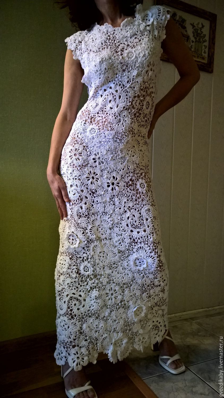 3aebe16972c ИРландское кружево .Ирландское вязание. Платья ручной работы. Ярмарка  Мастеров - ручная работа. Купить Белое платье