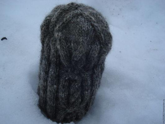 Шапки ручной работы. Ярмарка Мастеров - ручная работа. Купить шапка мужская  араны. Handmade. Серый, шерстяная шапка