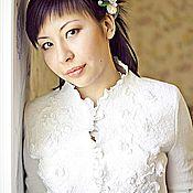 Свадебный салон ручной работы. Ярмарка Мастеров - ручная работа Болеро валяное свадебное Счастье. Handmade.