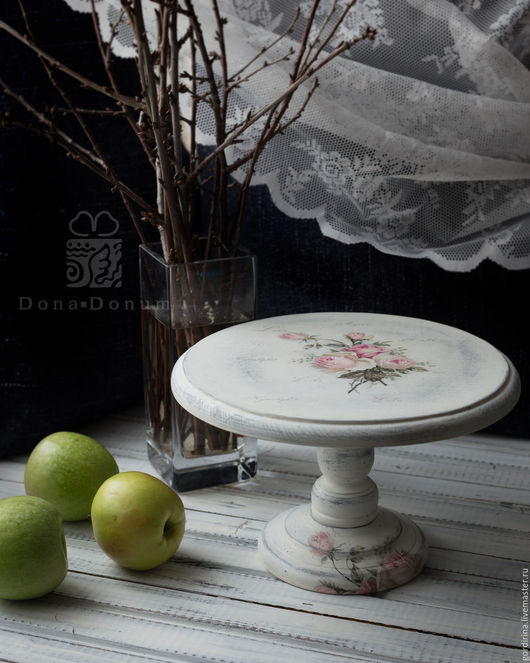 """Кухня ручной работы. Ярмарка Мастеров - ручная работа. Купить Подставка под торт  """" Нежный шебби"""". Handmade. Белый"""