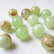 Материалы для творчества handmade. Livemaster - original item Onyx green 12 mm, beads ball smooth, natural stone. Handmade.