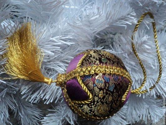 Новый год 2017 ручной работы. Ярмарка Мастеров - ручная работа. Купить Новогодний шар. Handmade. Комбинированный, ткани