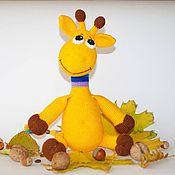 Куклы и игрушки ручной работы. Ярмарка Мастеров - ручная работа Жираф вязаный. Handmade.