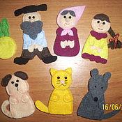 Куклы и игрушки ручной работы. Ярмарка Мастеров - ручная работа Пальчиковый театр Репка из фетра. Handmade.
