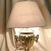 Русский стиль ручной работы. Ярмарка Мастеров - ручная работа Светильник-самовар. Handmade.