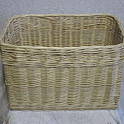 Для дома и интерьера handmade. Livemaster - original item Rectangular basket from willow twigs for toys and other things. Handmade.