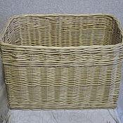 Для дома и интерьера handmade. Livemaster - original item Rectangular basket from willow twigs for toys and other things. Handmade.