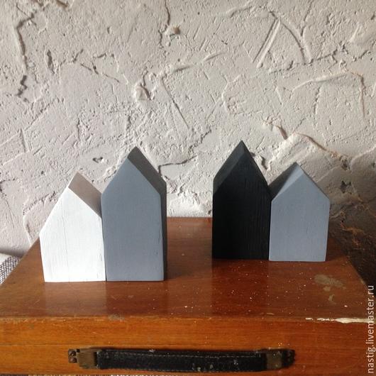 Статуэтки ручной работы. Ярмарка Мастеров - ручная работа. Купить Домики интерьерные деревянные, пара, минимализм, лофт. Handmade. Домик