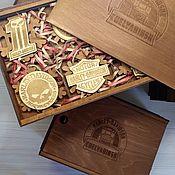 Упаковочная коробка ручной работы. Ярмарка Мастеров - ручная работа Коробка подарочная с набором, с логотипом. Handmade.