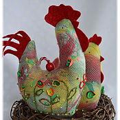 Куклы и игрушки handmade. Livemaster - original item Cockerel and a hen souvenir Easter gift Easter rooster chicken pizza. Handmade.