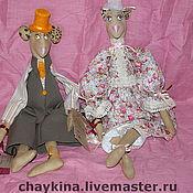 Куклы и игрушки ручной работы. Ярмарка Мастеров - ручная работа Мыши Захар (Зая) и Констанция (Котя). Handmade.
