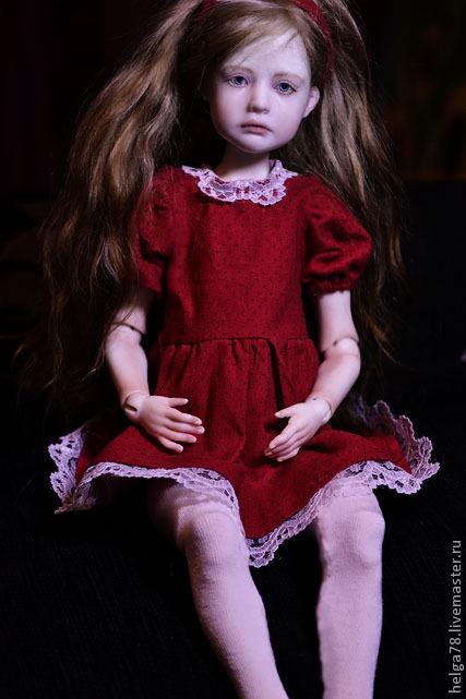 Коллекционные куклы ручной работы. Ярмарка Мастеров - ручная работа. Купить Сью. Handmade. Ярко-красный, коллекционная кукла
