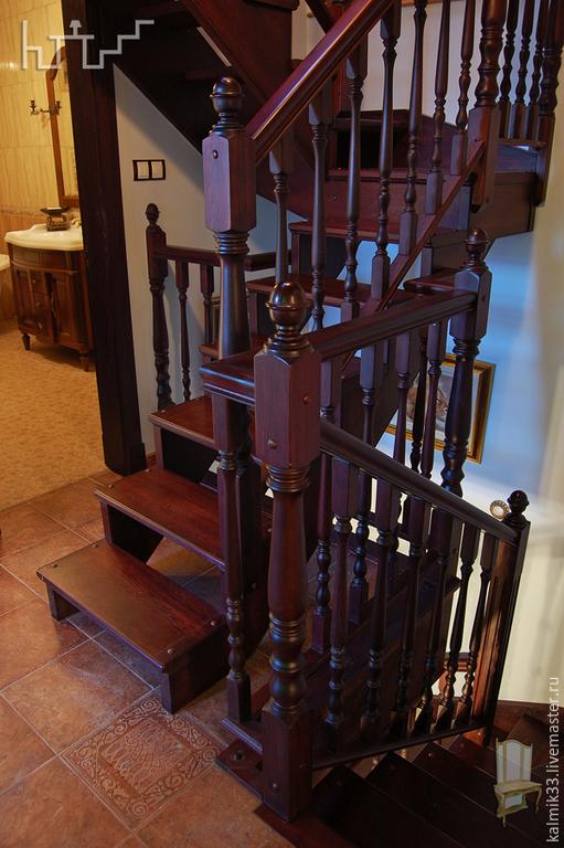 Элементы интерьера ручной работы. Ярмарка Мастеров - ручная работа. Купить Лестницы на три этажа. Handmade. Бордовый, три этажа