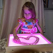 Настольные игры ручной работы. Ярмарка Мастеров - ручная работа Планшет для рисования песком 34x44 см  (цветная подсветка с пультом). Handmade.