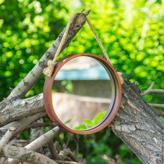 Зеркала ручной работы. Ярмарка Мастеров - ручная работа. Купить Зеркало из натурального дерева Сибирский кедр 230 мм Z1. Handmade.