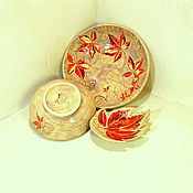 Посуда ручной работы. Ярмарка Мастеров - ручная работа Салатник керамический Виноградный лист. Handmade.