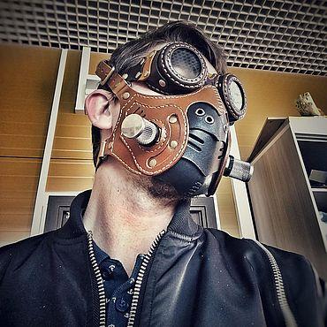 Субкультуры ручной работы. Ярмарка Мастеров - ручная работа Аксессуары: Steampunk mask со съемными фильтрами. Handmade.