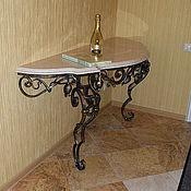 Для дома и интерьера ручной работы. Ярмарка Мастеров - ручная работа Кованый стол-консоль. Handmade.