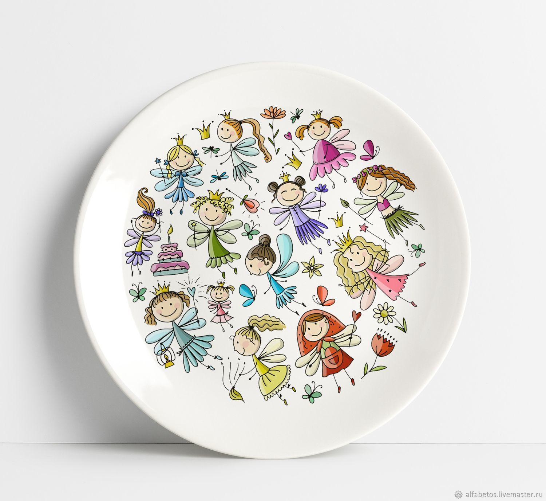 Тарелка с феями, Детская посуда, Ставрополь,  Фото №1