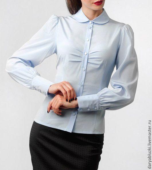 """Блузки ручной работы. Ярмарка Мастеров - ручная работа. Купить Блузка из шелка """"Безмятежность"""". Handmade. Голубой, новинка, блузка летняя"""