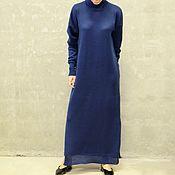 Одежда ручной работы. Ярмарка Мастеров - ручная работа Вязаное платье женское Blue Vita. Handmade.