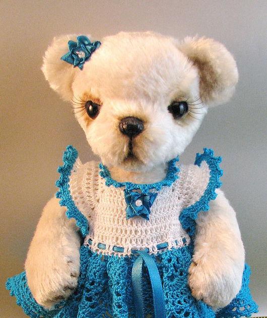 Мишки Тедди ручной работы. Ярмарка Мастеров - ручная работа. Купить Мишка Тедди Алиса-бирюзовое облачко. Handmade.