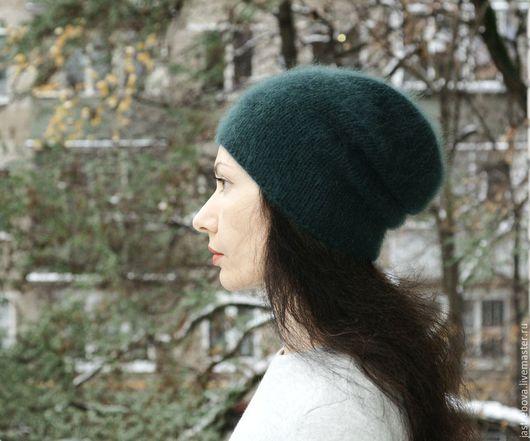 """Шапки ручной работы. Ярмарка Мастеров - ручная работа. Купить Вязаная шапка женская из ангоры """"Тайга"""". Handmade."""