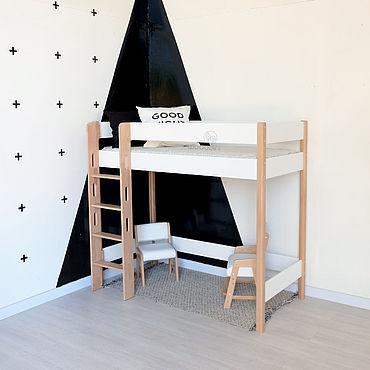 Мебель ручной работы. Ярмарка Мастеров - ручная работа Кровать чердак из дерева «Мед с молоком» L  высота 180. Handmade.