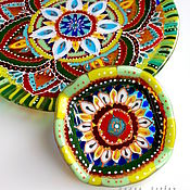 Посуда ручной работы. Ярмарка Мастеров - ручная работа комплект посуды из стекла, фьюзинг  Восток - дело тонкое. Handmade.