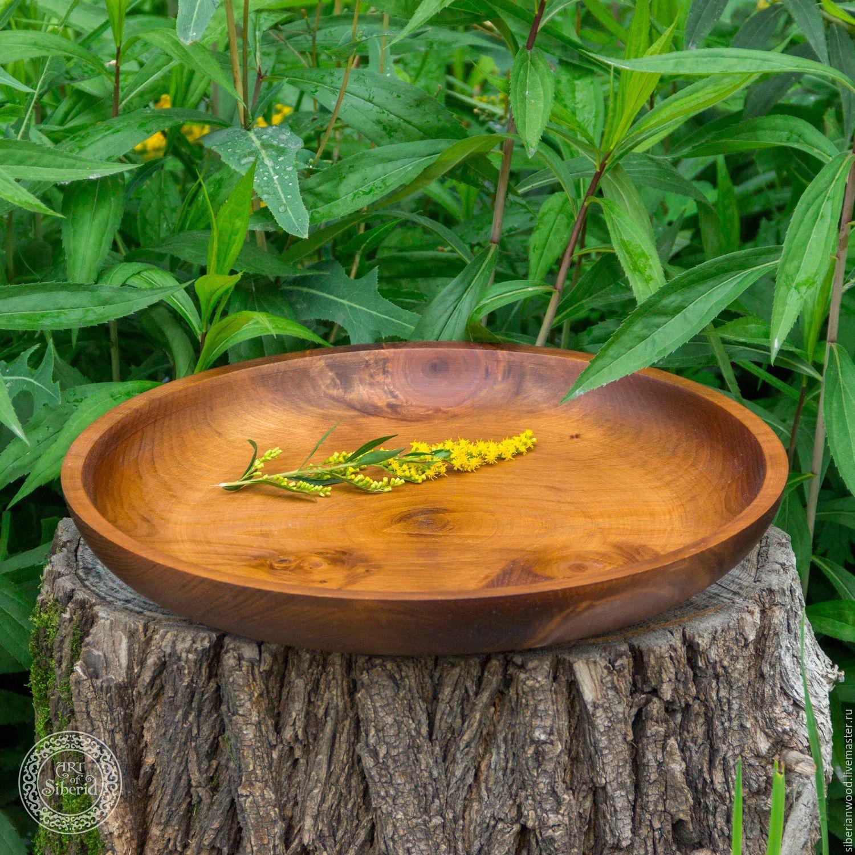 Wooden Plate - a dish of Siberian pine 36#23, Plates, Novokuznetsk,  Фото №1