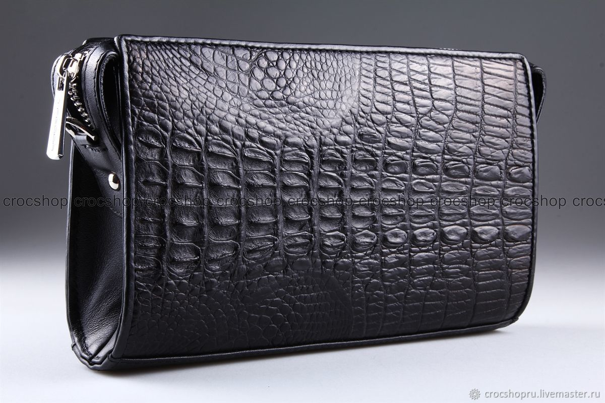Women's clutch bag crocodile leather IMA0052B2, Clutches, Moscow,  Фото №1
