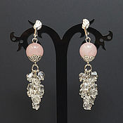 Украшения handmade. Livemaster - original item Long Earrings with a gems ,elegant. Handmade.