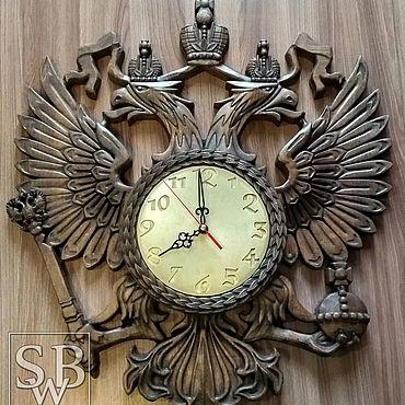 Для дома и интерьера. Ярмарка Мастеров - ручная работа Часы: Герб. Handmade.