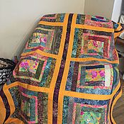 Для дома и интерьера ручной работы. Ярмарка Мастеров - ручная работа Яркое лоскутное одеяло. Handmade.