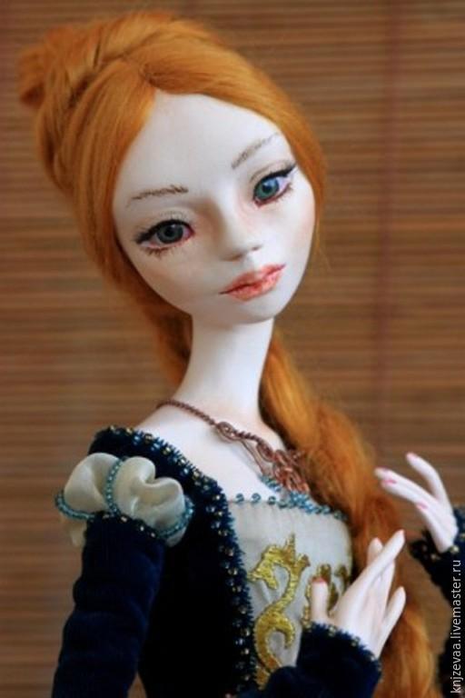 Коллекционные куклы ручной работы. Ярмарка Мастеров - ручная работа. Купить Рапунцель. Handmade. Разноцветный, интерьерная кукла, бисер